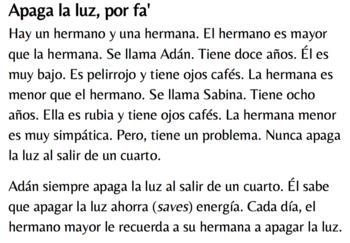 Spanish 1 - Apaga la luz, por fa' (TPRS)