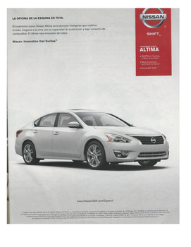 Spanish 1 Authentic Text Activity (Nissan Ad)