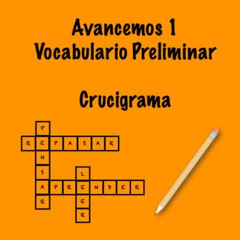 Avancemos 1 Prelim Vocab Crossword