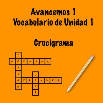 Spanish Avancemos 1 Vocab 1.1 Crossword