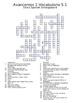 Spanish Avancemos 1 Vocab Crosswords Bundle