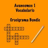 Avancemos 1 Vocab Crosswords Bundle