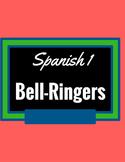 Spanish 1 Bell Ringers