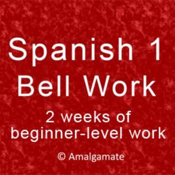 Spanish 1 Bell Work: 10 days for the beginner *Editable Powerpoint*
