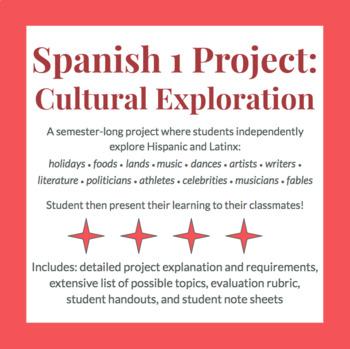 Spanish 1 Big Cultural Project