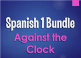 Spanish 1 Bundle:  Against the Clock Games