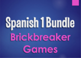 Spanish 1 Bundle:  Brickbreaker Games