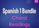 Spanish 1 Bundle:  Choral Readings