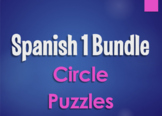 Spanish 1 Bundle:  Circle Puzzles