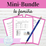 Spanish Family Vocab Activities Mini-Bundle