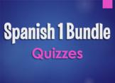 Spanish 1 Bundle: Quizzes