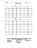 Spanish 1 Calendario personal proyecto- Personal Calendar Project