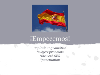 Spanish 1 Chapter 1 Grammar Guided Notes Packet: Ser and Subject Pronouns