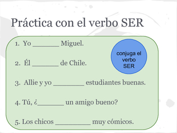 Spanish Activity Packet for Ser and Subject Pronouns