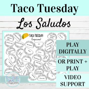 "Spanish 1 Chapter 1 Vocabulary Game, Taco Tuesday ""Empecemos"""