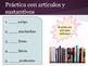 Spanish 1 Chapter 2 Grammar Slides and Practice: Ser, Gustar, Articles, & More!