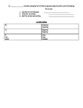 Spanish 1 Chapter 2A Realidades Notes Packet