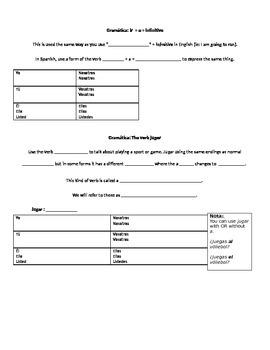 Spanish 1 Chapter 4B Realidades Notes Packet