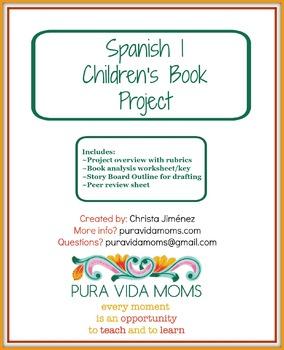 Spanish 1 Children's Book Project