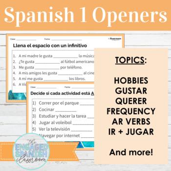 Spanish 1 Likes and Dislikes Class Openers