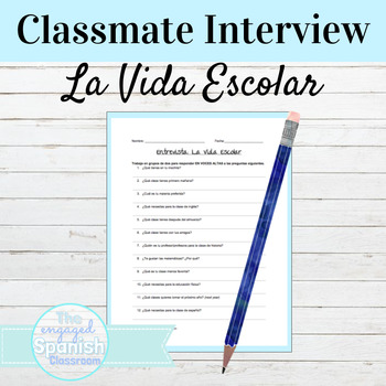Spanish 1 Speaking and Writing Interview: School Supplies and Schedule