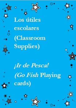 Ir de Pesca - Los Útiles Escolares  - School Supplies Go Fish Game - Spanish 1