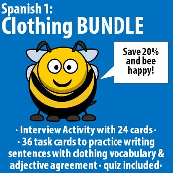 Spanish 1 - Clothing BUNDLE