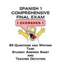 Spanish 1 Comprehensive Final Exam