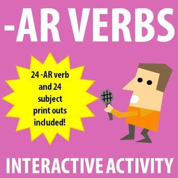 Spanish 1 - Conjugating AR verbs Interactive Activity