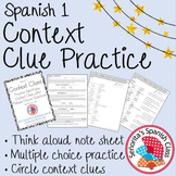 Spanish 1 - Context Clues Practice