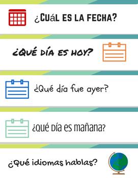 Spanish 1 Conversation Cards