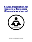 Course Description and Student Contract: Spanish 1 Beginner