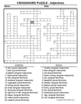 Spanish 1 - Crossword Bundle - 20 Puzzles! - Wide Variety of Vocab and Verbs