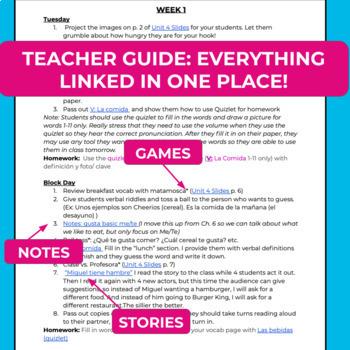 Spanish 1 Curriculum: Así se dice Chapter 4