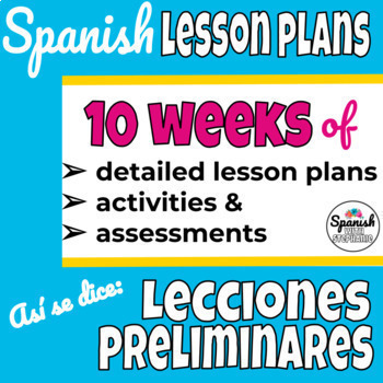 Spanish 1 Curriculum: Así se dice Lecciones Preliminares