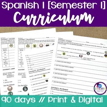 Spanish 1 Curriculum {Semester 1}