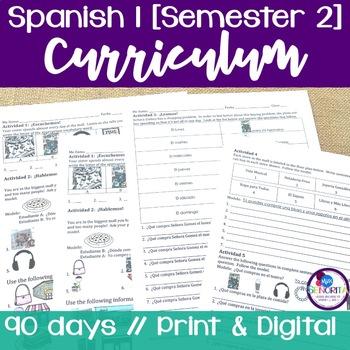 Spanish 1 Curriculum {Semester 2}