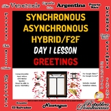 Spanish 1 Day 1 Lesson Plan A Asynchronous Plan B Hybrid,