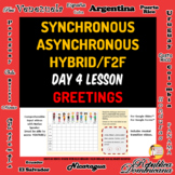 Spanish 1 Day 4 Lesson Plan A Asynchronous Plan B Hybrid,