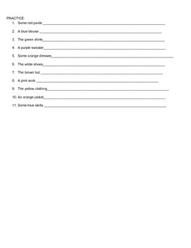 Spanish 1 Definite and Indefinite Articles Guided Notes