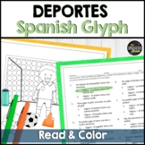Spanish 1 (Realidades) reading & coloring activity: Deportes