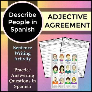 Spanish 1 - Describing People Writing Activity for Adjective Agreement and Ser