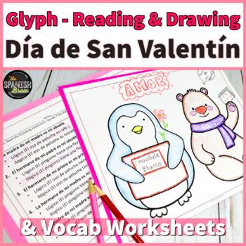 Spanish 1 Dia de San Valentín-  reading and coloring activity