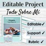 Spanish 1 EDITABLE Portfolio Project