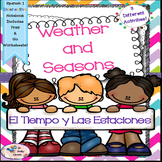 Spanish 1 El Tiempo y Las Estaciones -Weather and Seasons - Interactive Notebook