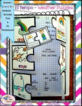 Spanish 1 El Tiempo y Las Estaciones -Weather and Seasons - Interactive Notebook
