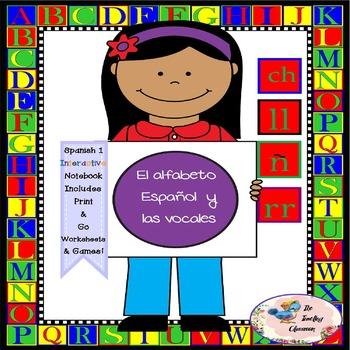 Spanish 1 El alfabeto Español y las vocales-  Interactive Notebooks