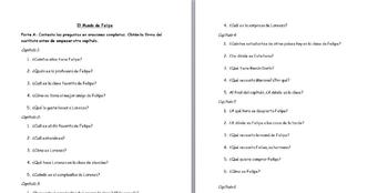 Spanish 1 El mundo de Felipe Study Guide with Answers