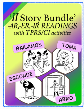 Spanish 1,2: Eleven TPRS Stories with CI Activities, Regul