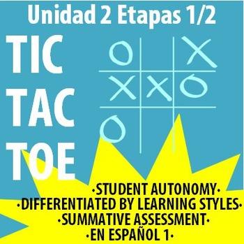 Spanish 1 - En Espanol 1 - U2E2 - Differentiated TIC TAC TOE Board